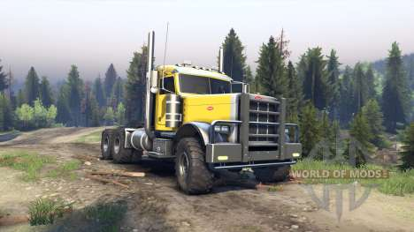 Peterbilt 379 yellow pour Spin Tires