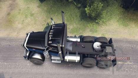 Peterbilt 379 black blue für Spin Tires