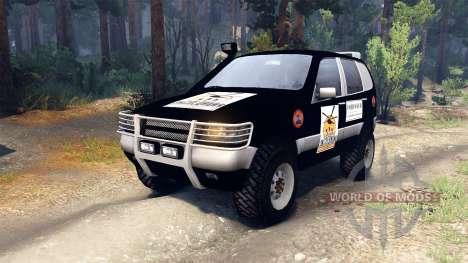 ВАЗ-21236 Chevrolet Niva black pour Spin Tires