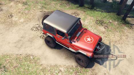 Jeep YJ 1987 orange pour Spin Tires