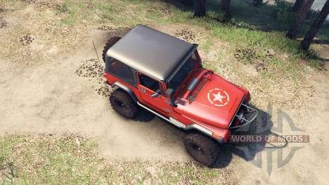 Jeep YJ 1987 orange pour Spin Tires