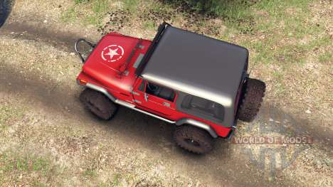 Jeep YJ 1987 red für Spin Tires