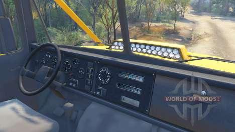 KrAZ-6322 v3.0 jaune pour Spin Tires