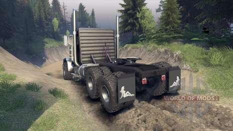 Peterbilt 379 v1.1 black and green pour Spin Tires