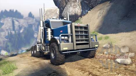 Peterbilt 379 v1.1 light blue pour Spin Tires