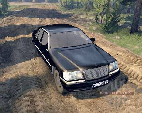 Mercedes W140 für Spin Tires