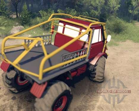 Unimog SWB für Spin Tires