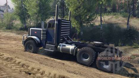 Peterbilt 379 v1.1 dark blue für Spin Tires