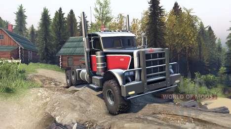 Peterbilt 379 v1.1 red black pour Spin Tires