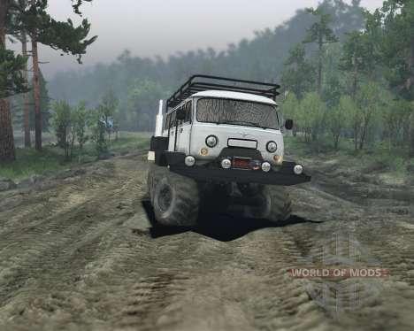 UAZ 6x6 pour Spin Tires