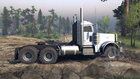 Peterbilt 379 v1.1 white pour Spin Tires