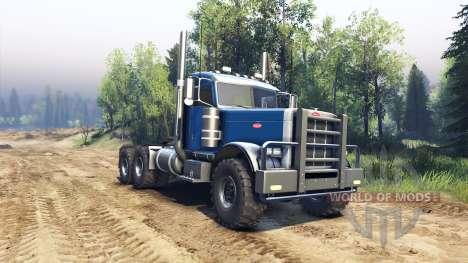Peterbilt 379 light blue pour Spin Tires