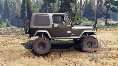 Jeep YJ 1987 black für Spin Tires