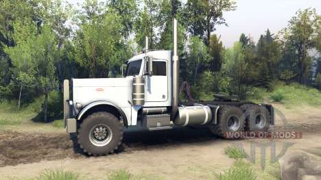 Peterbilt 379 white pour Spin Tires