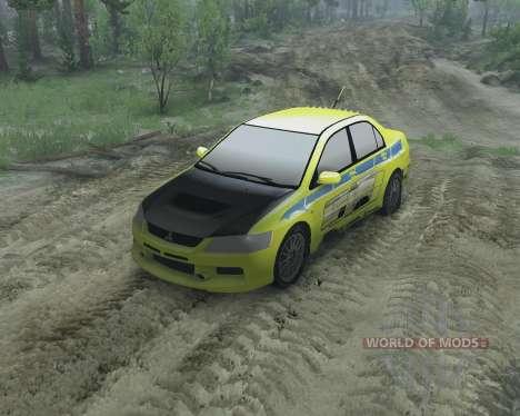 Mitsubishi Evolution für Spin Tires