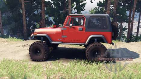 Jeep YJ 1987 orange für Spin Tires