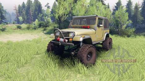 Jeep YJ 1987 green pour Spin Tires