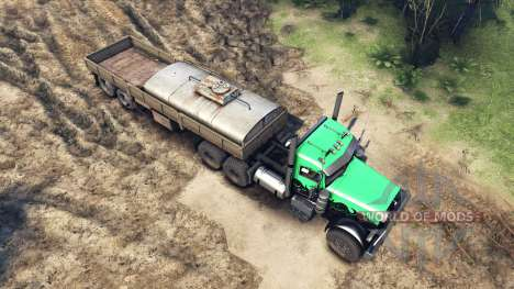 Peterbilt 379 green and black pour Spin Tires