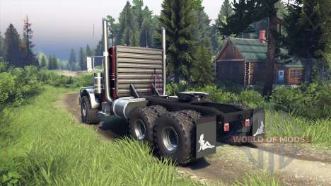 Peterbilt 379 red and black stripe pour Spin Tires