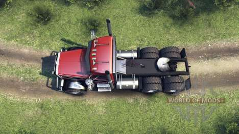 Peterbilt 379 red and black stripe für Spin Tires