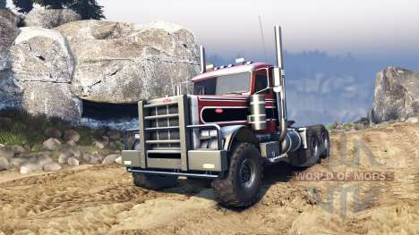 Peterbilt 379 v1.1 red and black stripe pour Spin Tires