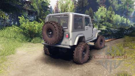 Jeep YJ 1987 silver pour Spin Tires