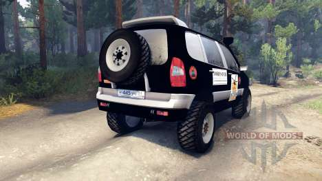 ВАЗ-21236 Chevrolet Niva black für Spin Tires