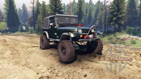 Jeep YJ 1987 dark green pour Spin Tires