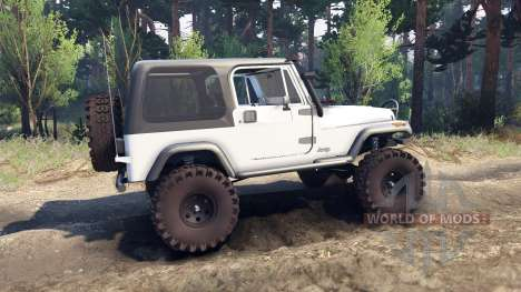Jeep YJ 1987 white pour Spin Tires