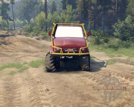 Unimog SWB pour Spin Tires