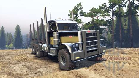 Peterbilt 379 black and green pour Spin Tires