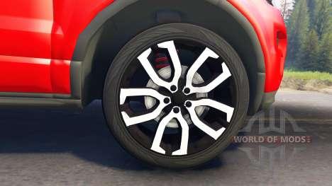 Range Rover Evoque pour Spin Tires