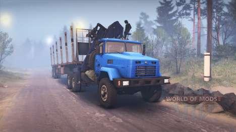 KrAZ-6322 v3.0 blue pour Spin Tires