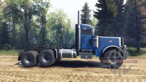 Peterbilt 379 light blue für Spin Tires