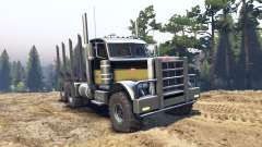 Peterbilt 379 black and green