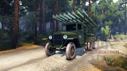 ZiS-5 BM-13 für Spin Tires
