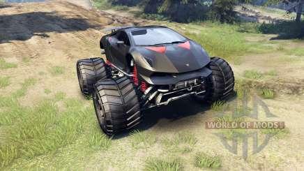 Lamborghini Sesto Elemento Monster Truck für Spin Tires