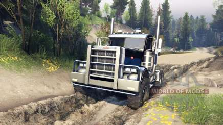 Peterbilt 379 v1.1 black blue pour Spin Tires