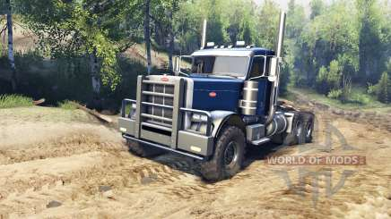 Peterbilt 379 v1.1 dark blue pour Spin Tires