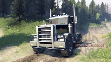 Peterbilt 379 v1.1 black and green für Spin Tires