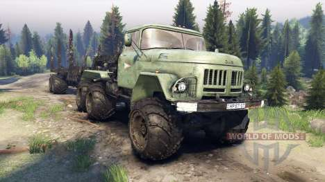 ЗиЛ-137 remorque journal pour Spin Tires