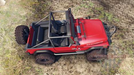 Jeep YJ 1987 Open Top red pour Spin Tires