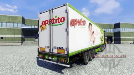 Haut Apetito auf dem Anhänger für Euro Truck Simulator 2