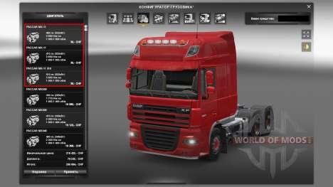 Motoren für DAF-LKW für Euro Truck Simulator 2