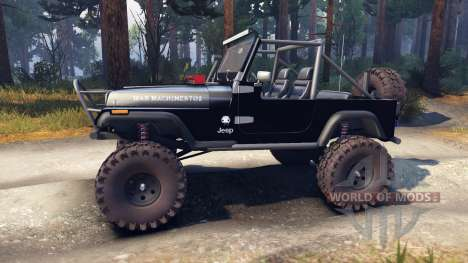 Jeep YJ 1987 Open Top black für Spin Tires