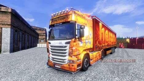 Haut aus Oxford für Scania-LKW für Euro Truck Simulator 2