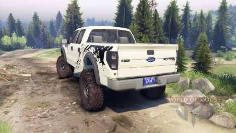 Ford Raptor SVT v1.2 factory terrain pour Spin Tires