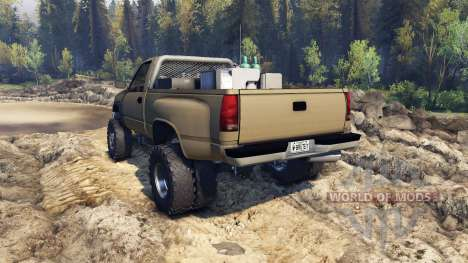 Chevrolet Regular Cab Dually tan pour Spin Tires