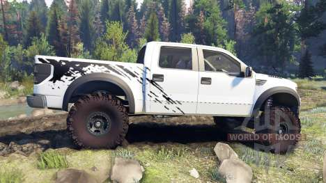 Ford Raptor SVT v1.2 factory white pour Spin Tires