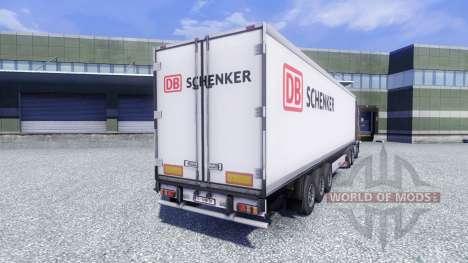La peau DB Schenker sur la remorque pour Euro Truck Simulator 2
